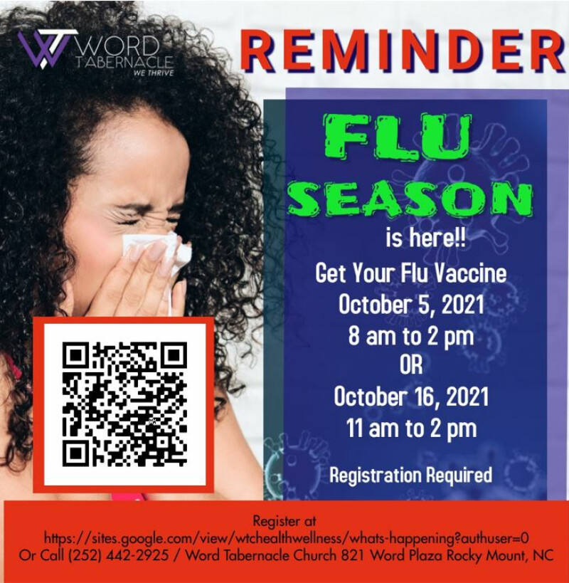 """GET YOUR FLU VACCINE """"Registration Required"""""""